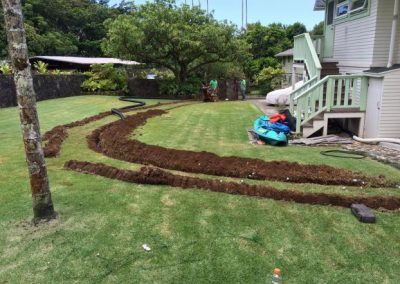 Oahu Sprinkler French Drain Installation