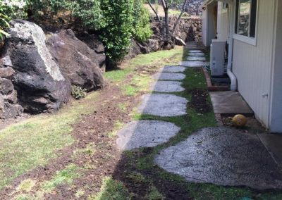 Oahu Sprinkler French Drain Installed