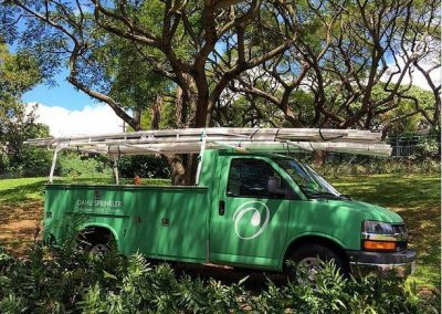 Oahu Sprinkler company vehicle